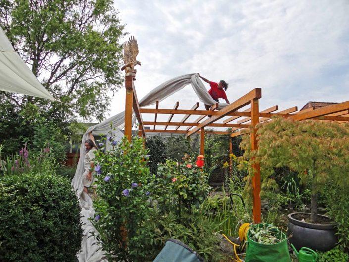 Gartenarbeit im lichtpunkt kristallmensch for Sonnenschutz teich