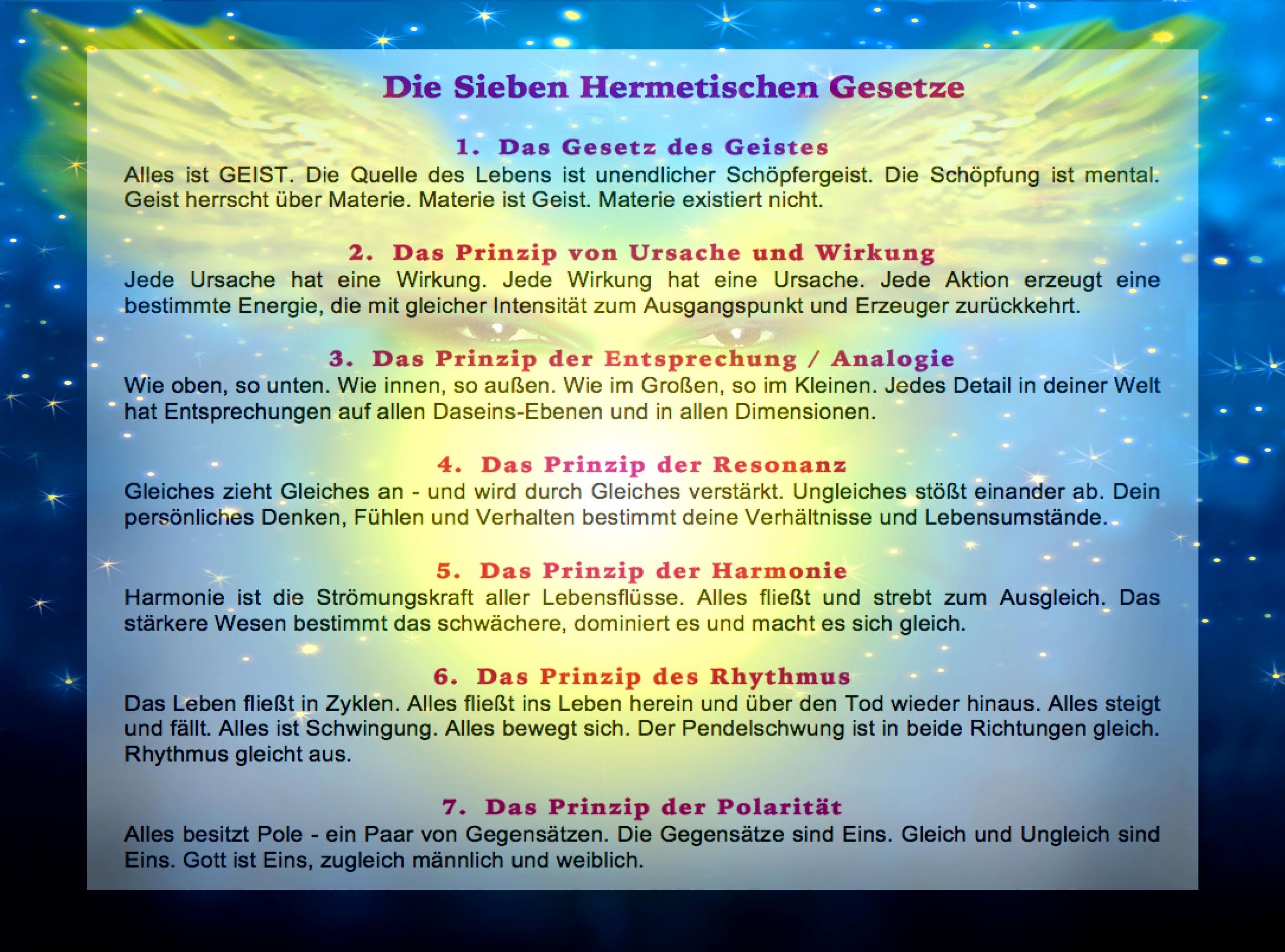 Die Sieben hermetischen Gesetze